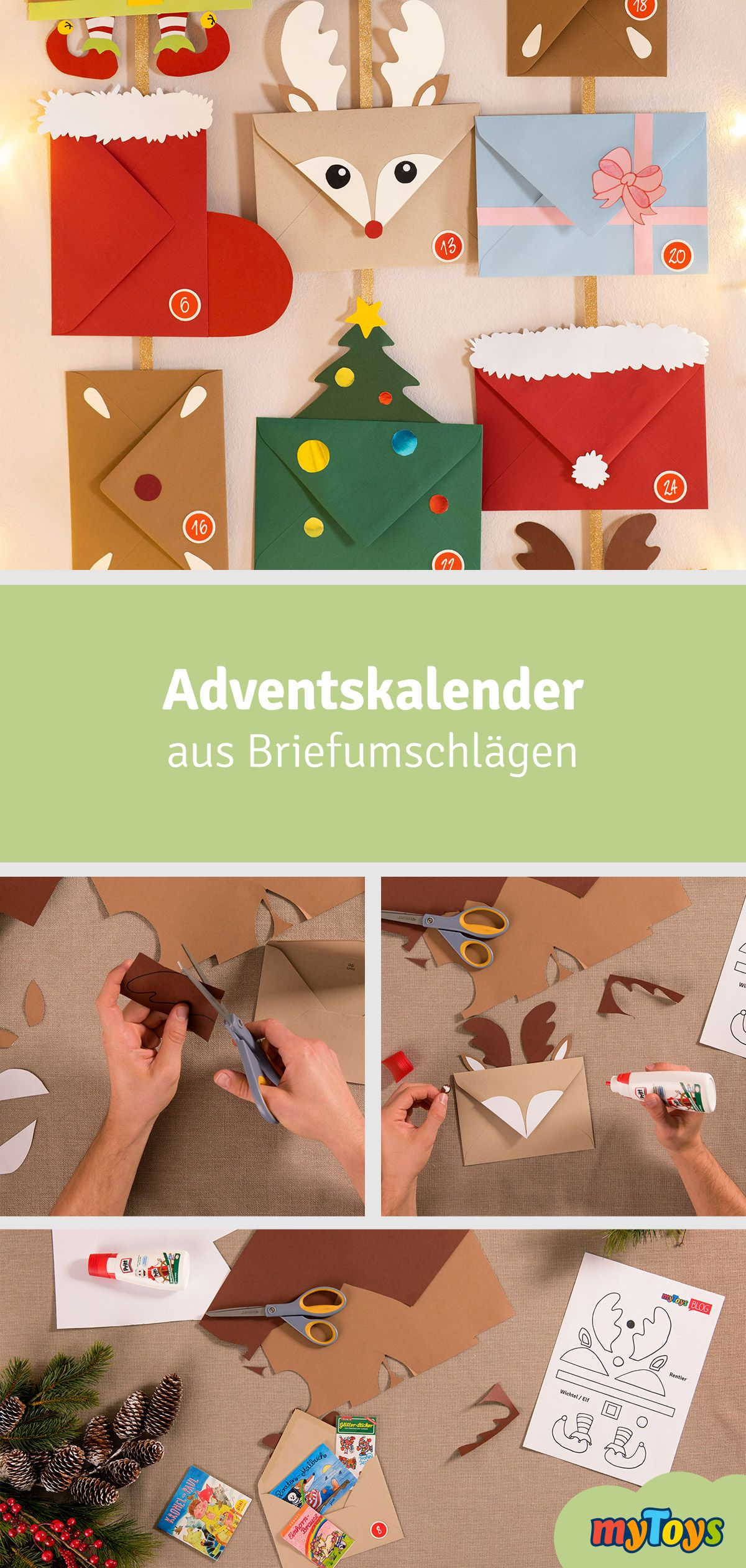 Photo of Advent calendar from envelopes