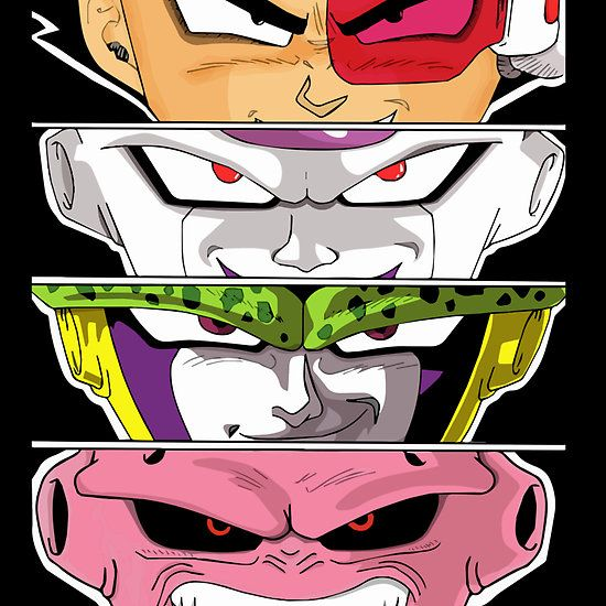 Super Villains ( Vegeta , Majin Buu , Frieza , Cell ...