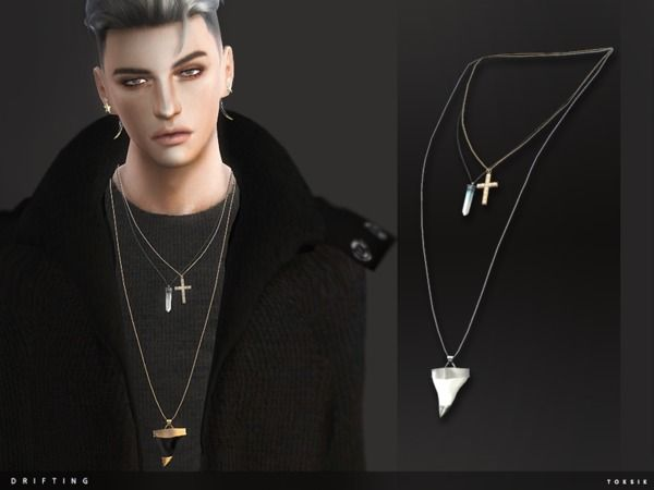 prix favorable 2019 real élégant et gracieux The Sims Resource: Drifting Necklace by toksik • Sims 4 ...