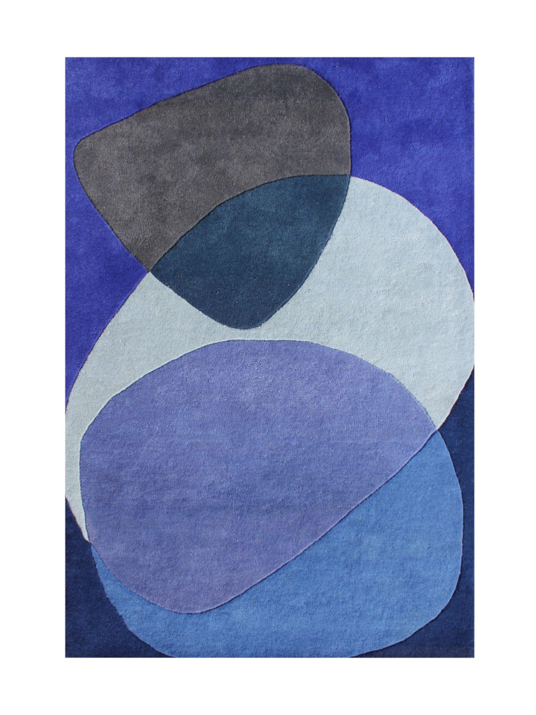Alliyah Handmade Dazzling Blue Blue New Zealand Blend Wool Rug (5' x 8') | Overstock.com Shopping - The Best Deals on 5x8 - 6x9 Rugs