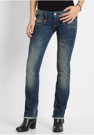 Herrlicher JOLINA Jeans Straight Leg retro blue von ansehen!