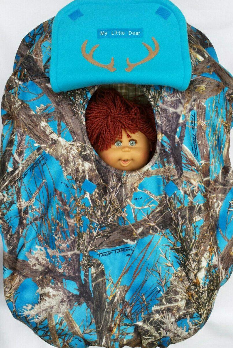 Car seat cover true timber blue camo baby cozy hand made