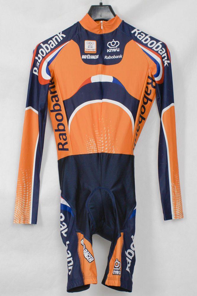 BIORACER RABOBANK CYCLING SUIT NETHERLANDS HOLLAND OLYMPIC TEAM SIZE 2  SKINSUIT  BioRacer ed401b189