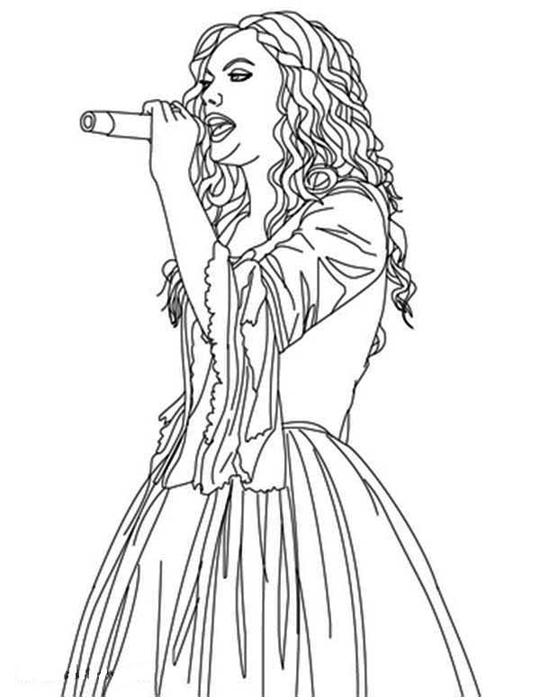 Taylor Swift Is Sing For You Coloring Page Color Luna Coloring Pages Sing For You Taylor Swift