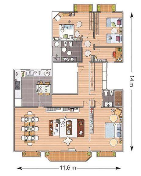 Planos casa 1 piso buscar con google planos casas 1 for Planos google