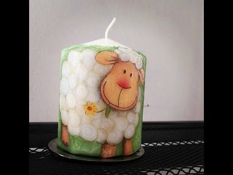 How to make a tissue candle - DIY