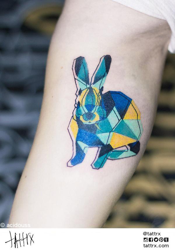 acidouss ink tattoo tatouages pinterest tatouage tatouage g om trique et tatouage lapin. Black Bedroom Furniture Sets. Home Design Ideas