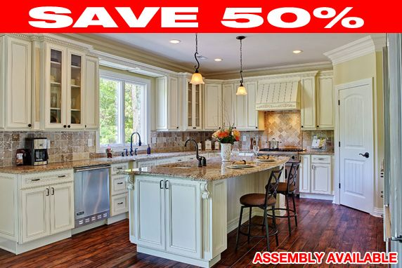 Dakota White Rta Kitchen Cabinets: Discount RTA Kitchen Cabinets. All Wood.