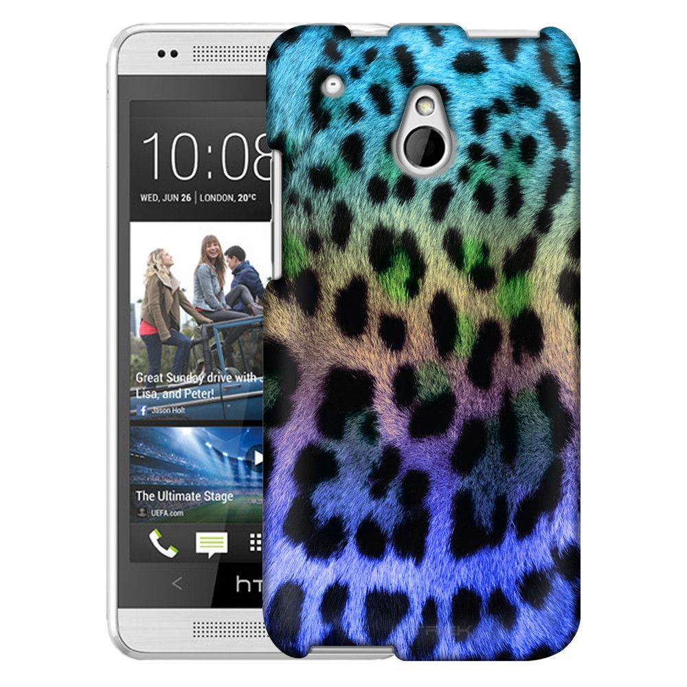 HTC One Mini Leopard Teal to Violet Ombre Slim Case