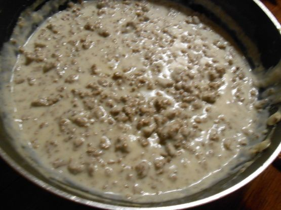 Hamburger Gravy Over Mashed Potatoes Recipe Food Com Recipe Hamburger Gravy Food Sausage Gravy