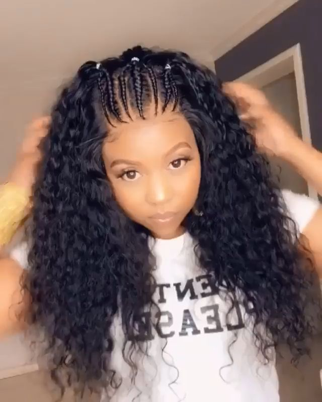 Protective Styles For Swimming Protective Styles Swimming Schutzstile Zum In 2020 Curly Hair Styles Naturally Front Lace Wigs Human Hair Wig Hairstyles