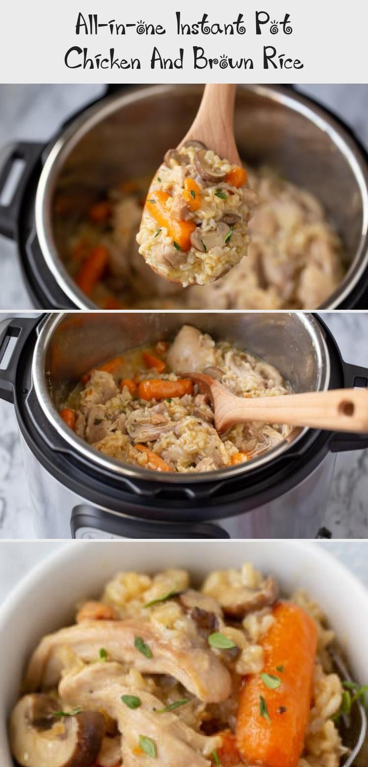 All-in-one Instant Pot Chicken And Brown Rice - Best #instantpotcinnamonrolls