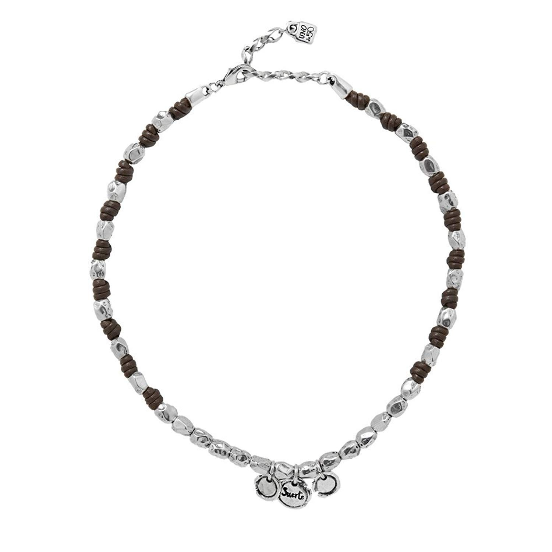 Bocar Black Chunky Alloy Multi Layer Statement 18 Choker Collar Necklace