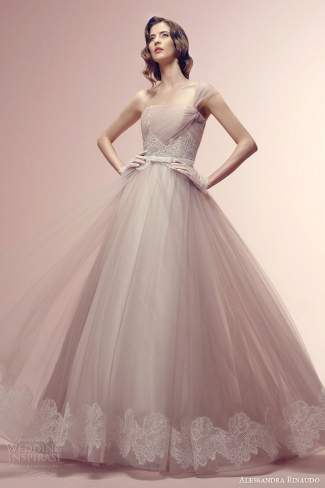 Hayley paige dori wedding dress  Lovely Pink Wedding Gown Color Ideas For Beautiful Bride  Best