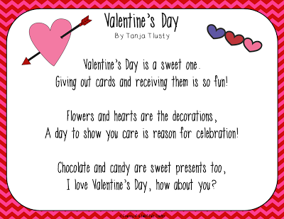 Journey Of A Substitute Teacher Valentine S Day Poems And A Freebie
