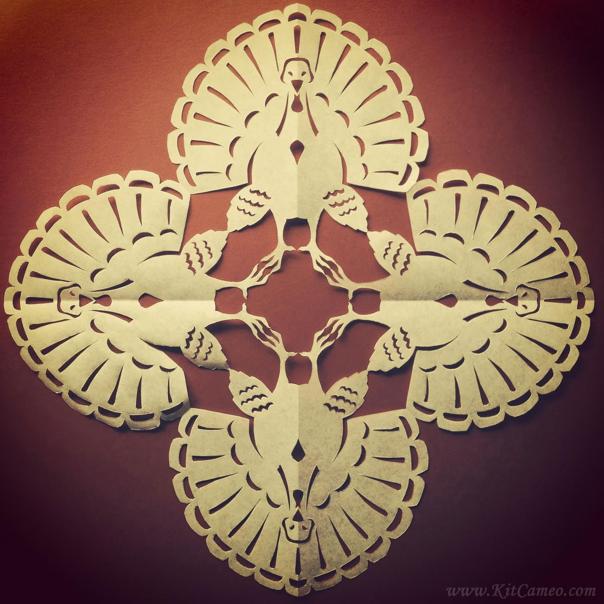 Turkey Paper Snowflake Pattern