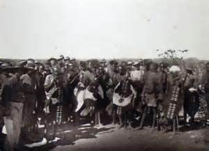 1890 --  Lobengula's warriors, at tuli