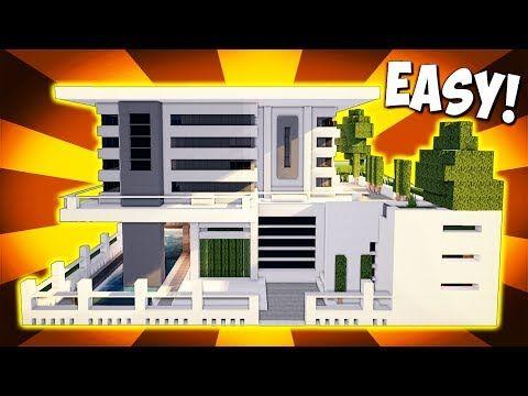 Minecraft Big Modern House X2f Mansion Tutorial How To Make Realistic Modern House 2017 Minecraft Modern Big Modern Houses Modern Minecraft Houses
