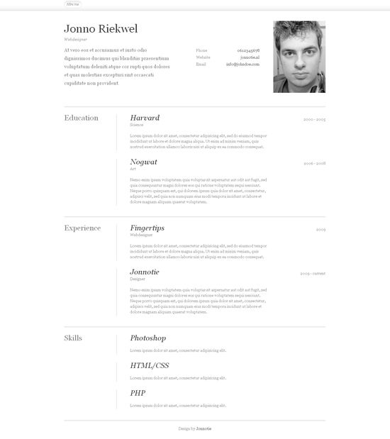 Attractive CvResume Design Inspiration  Resume