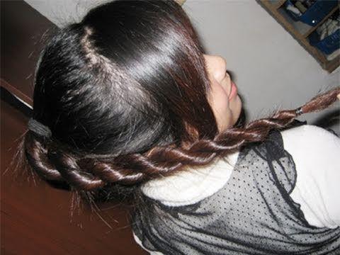 2 Strand Twist Rope Braid Hairstyle