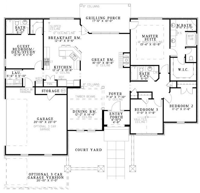Plan 59868nd tuscan villa house plans the guest and Tuscan villa floor plans