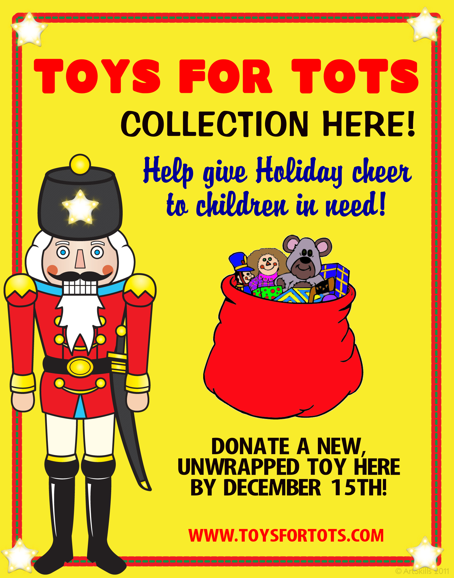 Toys For Tots Fundraising Poster Winter Festival Senior Project