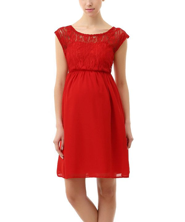 a3872e3862 Look at this MOMO Maternity Red Genevieve Maternity Skater Dress on  zulily  today!
