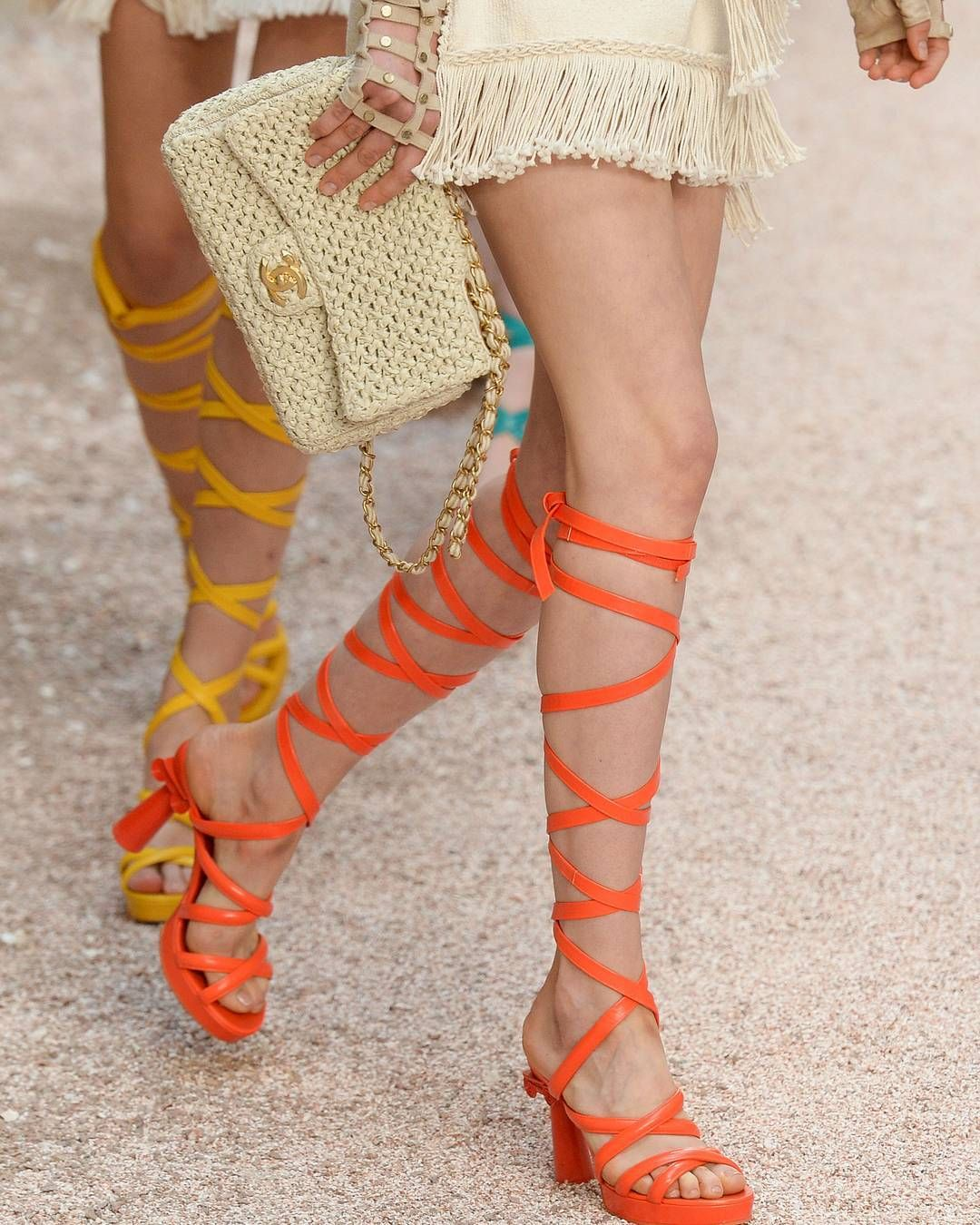 Living for these @ChanelOfficial sandals  @karllagerfeld