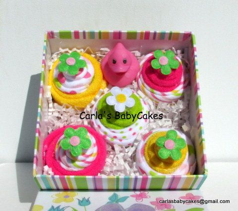 Baby Cupcakes Gift Set New Mom Gift Baby Shower Gift