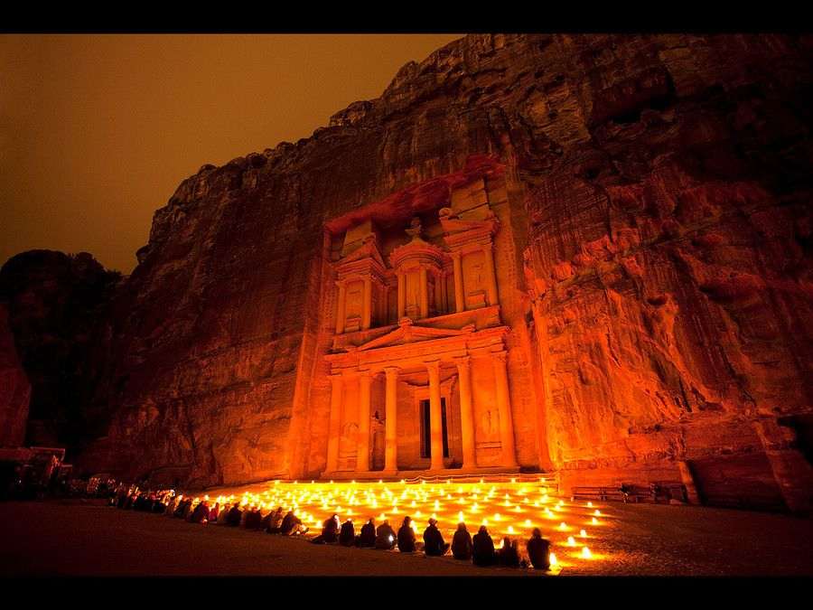 Candlelight In The Ancient City Of Petra By Fabian Pitzer Via