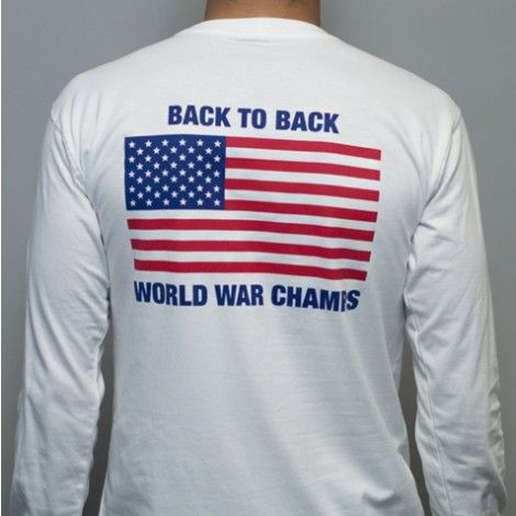 9acf22f98 Back to Back World War Champs Long Sleeve Tee in White by Rowdy Gentleman