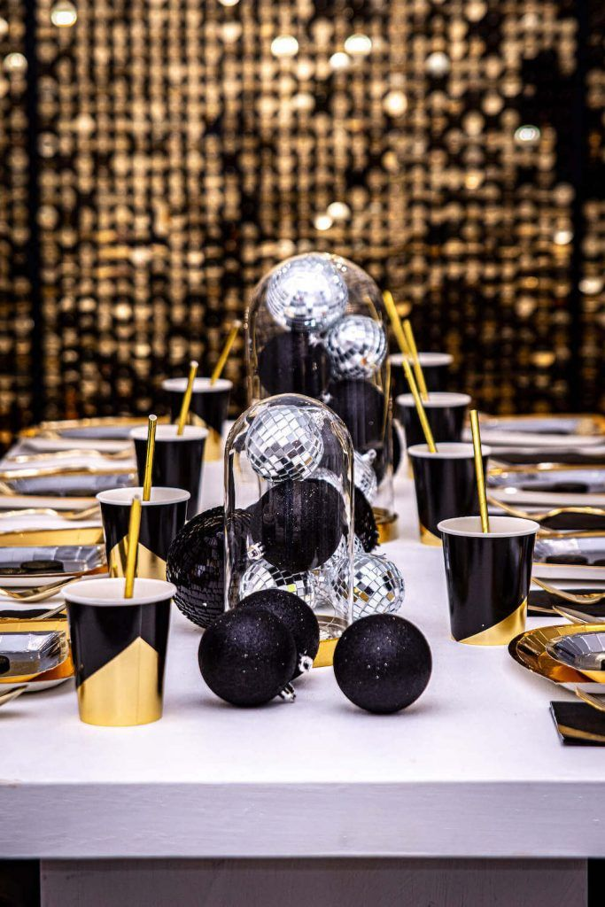 Hello 2020 Black and Gold New Year's Eve Kids Party