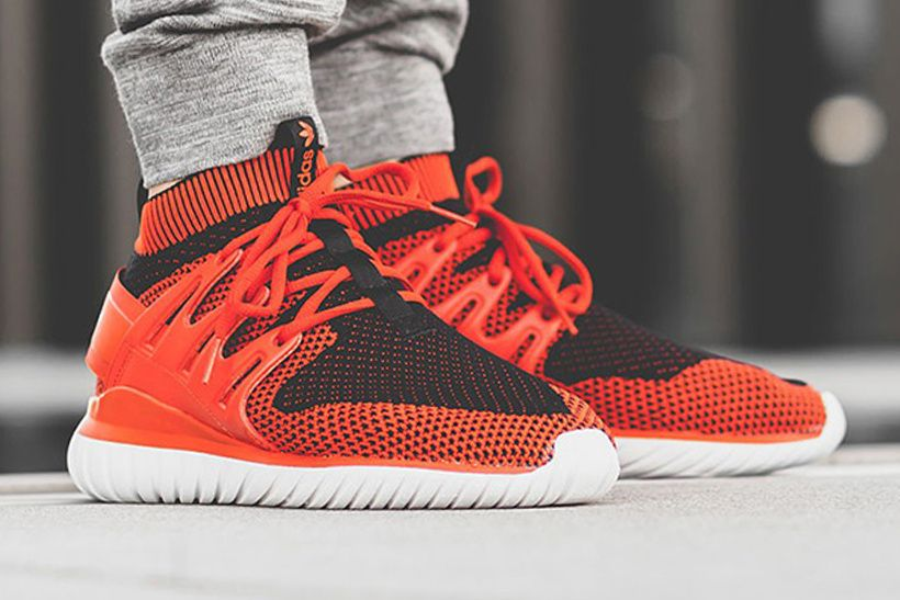 adidas Originals Tubular Nova Primeknit Sneakers In Red
