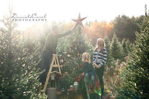 Christmas Tree Farm Photography.Christmas Mini Photo Session Idea Family Props Tree