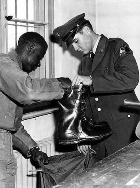 Well, you've shined my shoes. Elvis Presley
