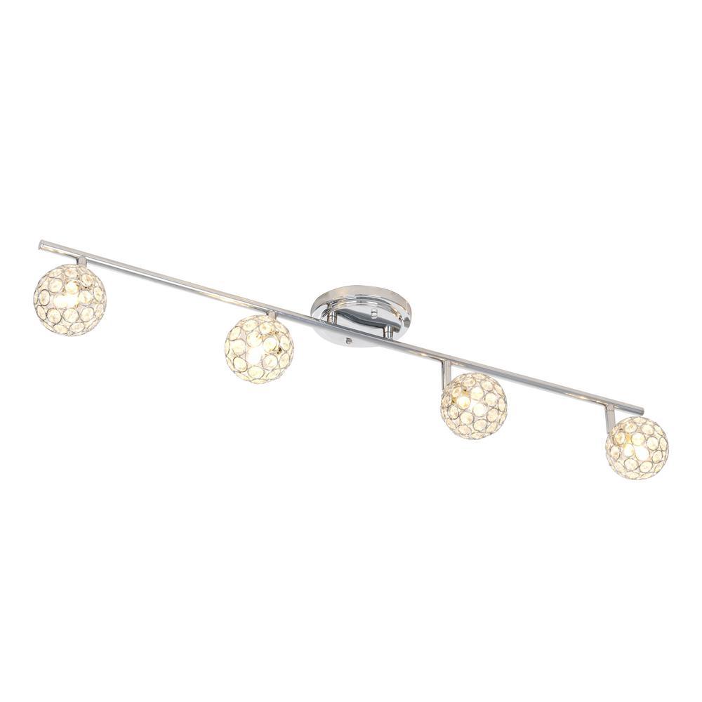 Alsy 3 Ft 4 Light Chrome Fixed Track Lighting Kit Bar 20556 000 In 2020 Track Lighting Kits Track Lighting Lighting
