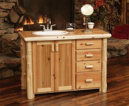 Rustic Cedar Log Bathroom Vanities Log Vanity Minnesota Log - Bathroom vanities mn