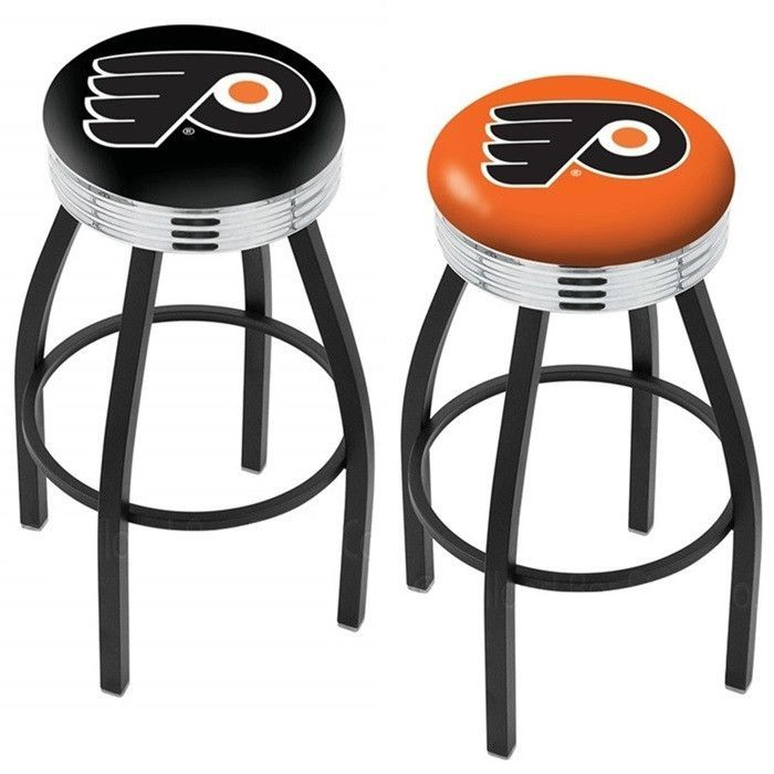 Start Tab Description The Philadelphia Flyers Bar Stool With Team Logo Is Made For Ultimate Sports Fan Impress Your Friends This Knockout