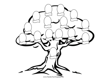 This Family Tree Has Line Art That Also Makes It A Great Coloring Page Kids