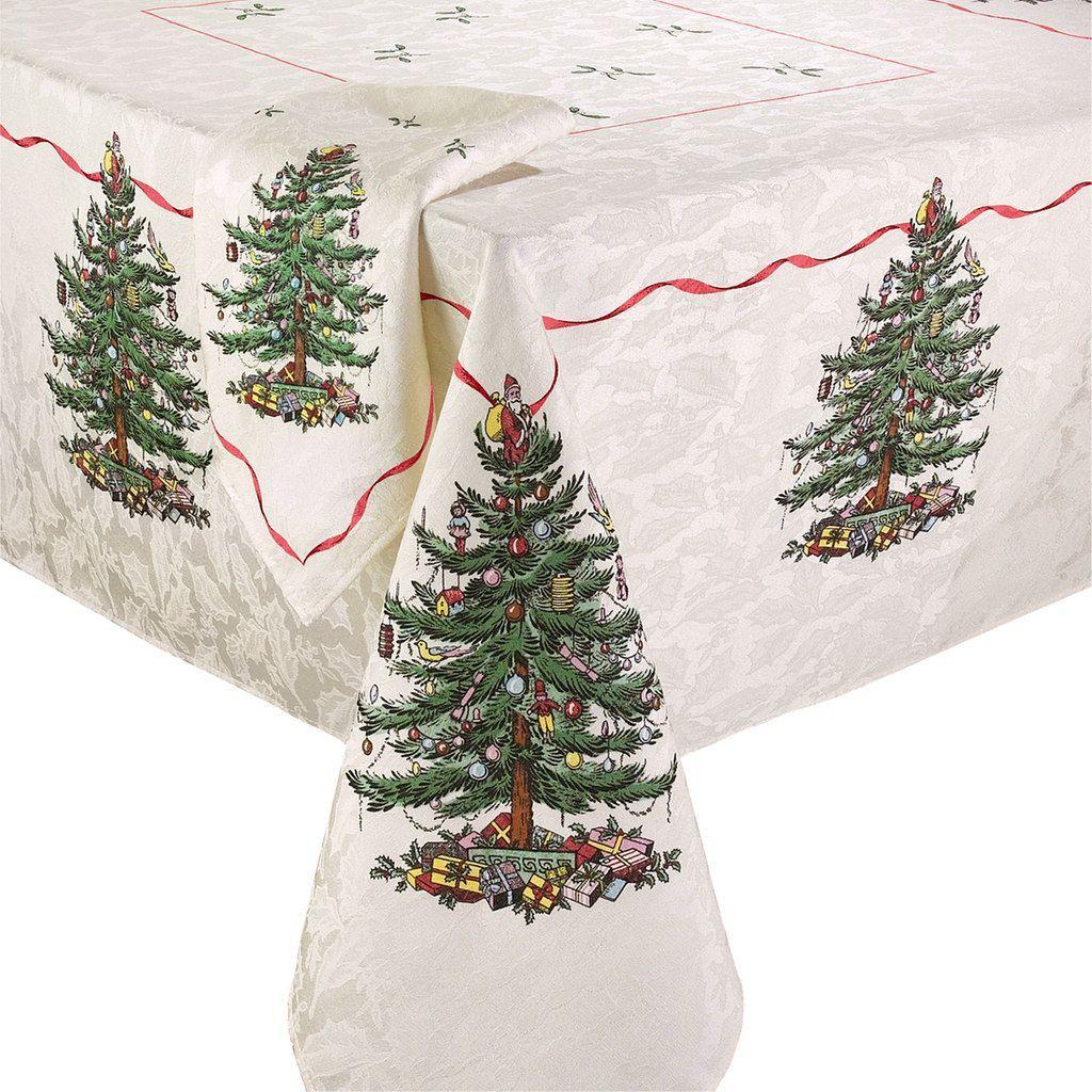Spode Christmas Tree Tablecloth | Christmas table cloth ...