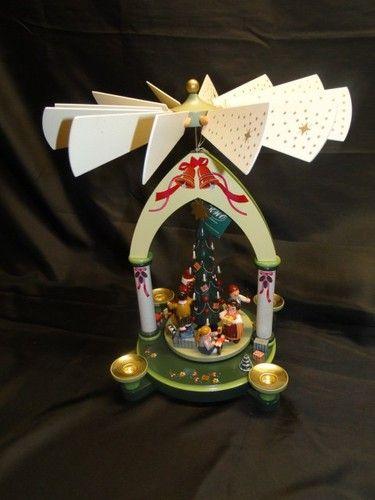 finest vtg erzgebirge german wooden christmas pyramid. Black Bedroom Furniture Sets. Home Design Ideas