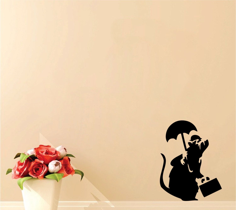 Wall Art: Banksy Business Rat With Umbrella | Wall Art | Pinterest ...