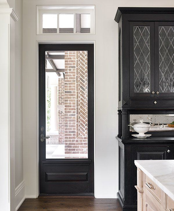 Black Built In Kitchen Cupboards: Gorgeous Brick House {If I Lived Here