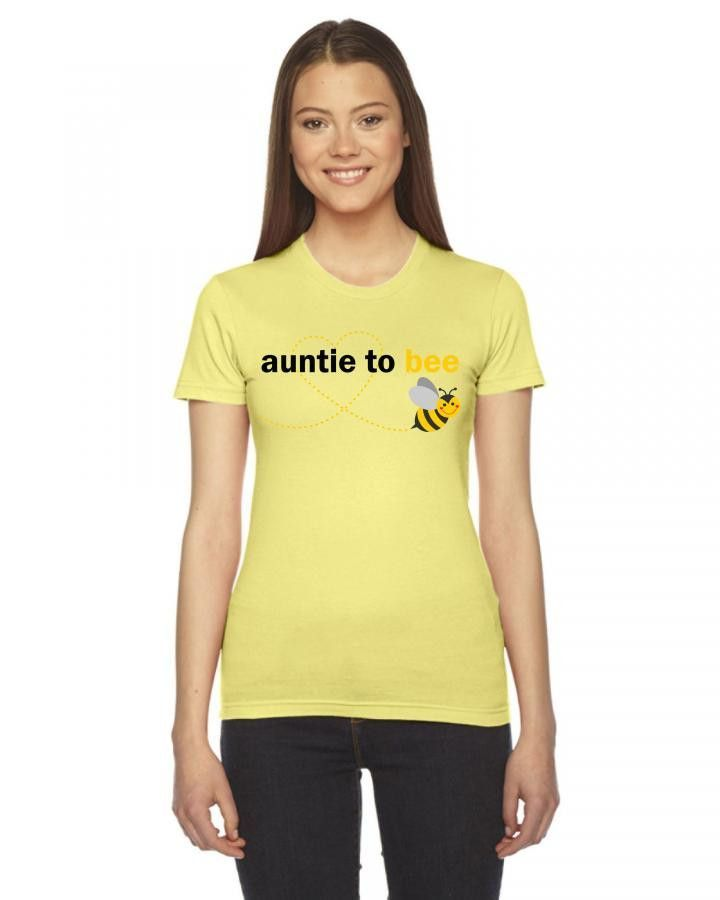 Auntie To Bee Ladies Fitted T-Shirt