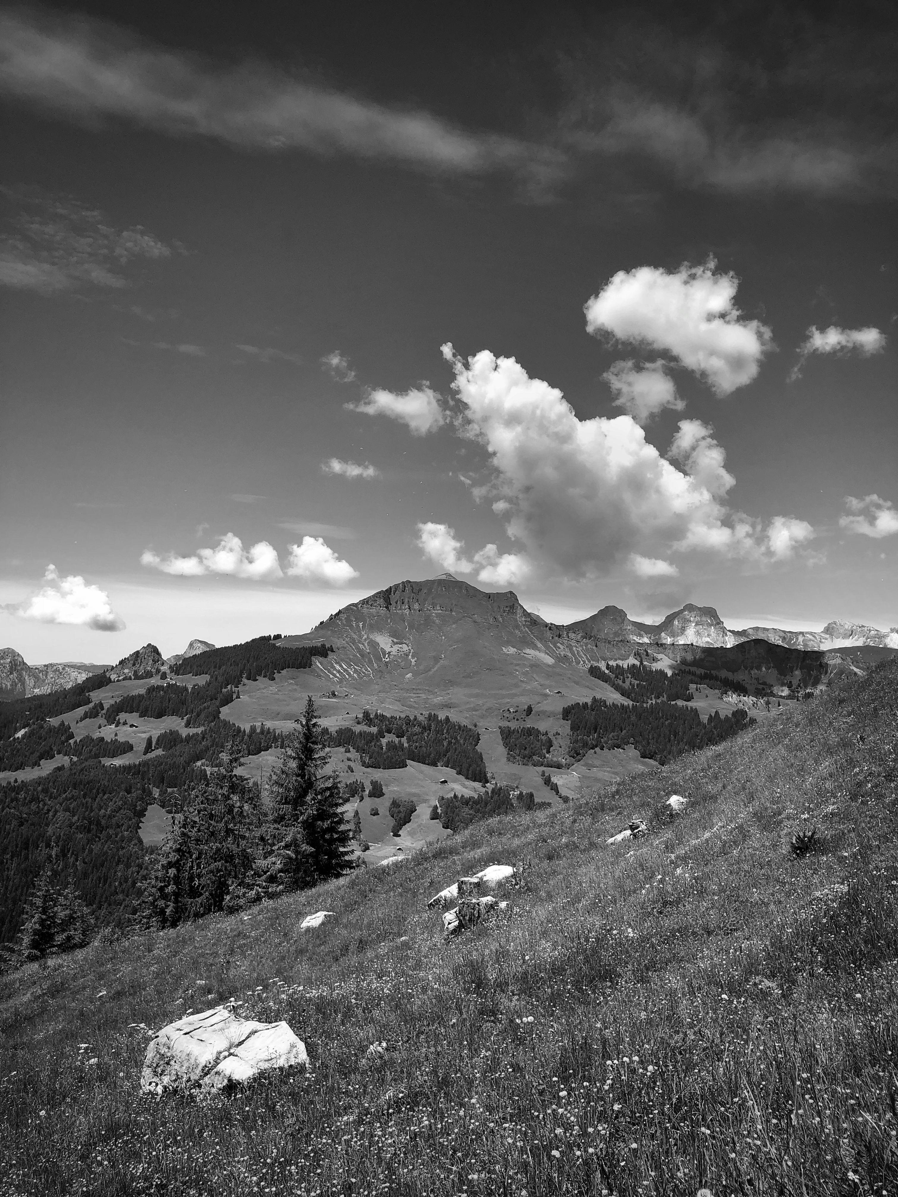 Vue Du Mont Lachat Dans Les Aravis Projet365 Aravis Hautesavoie Laclusaz Montagne Alpes Paysage Photographie Photo En Noir Photographie Noir Et Blanc