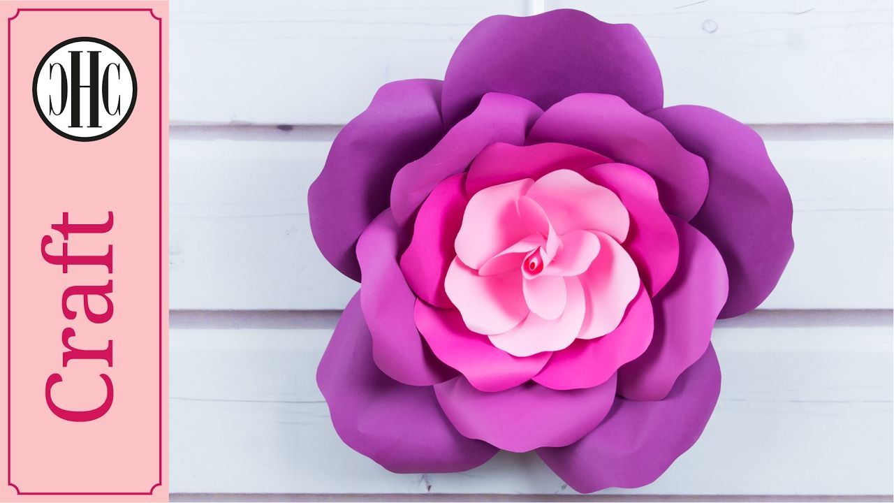 Giant Paper Roses Free Template Country Hill Cottage Paper