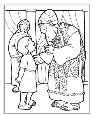 Cheers Sunday School: Bible Story Picture: Samuel   Coloring pages ...
