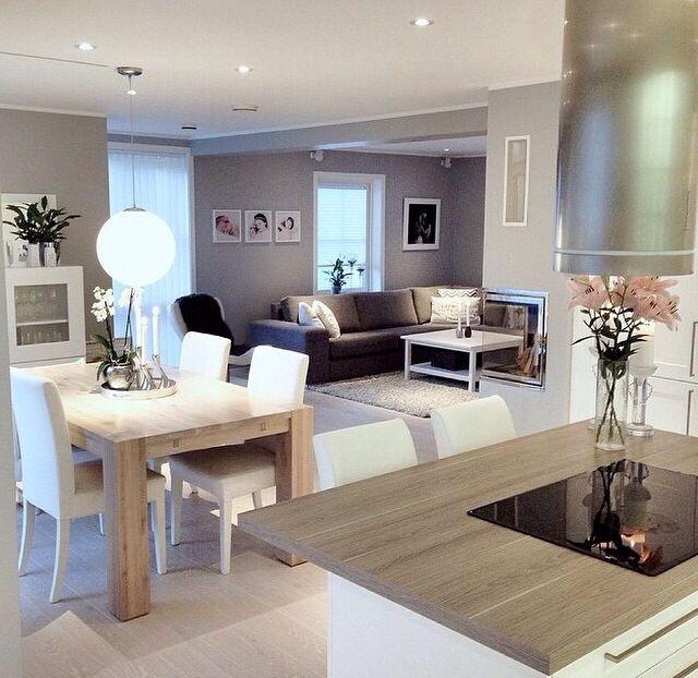 Holz - Grau - Weiß Mischung Wohnzimmer Pinterest Salons