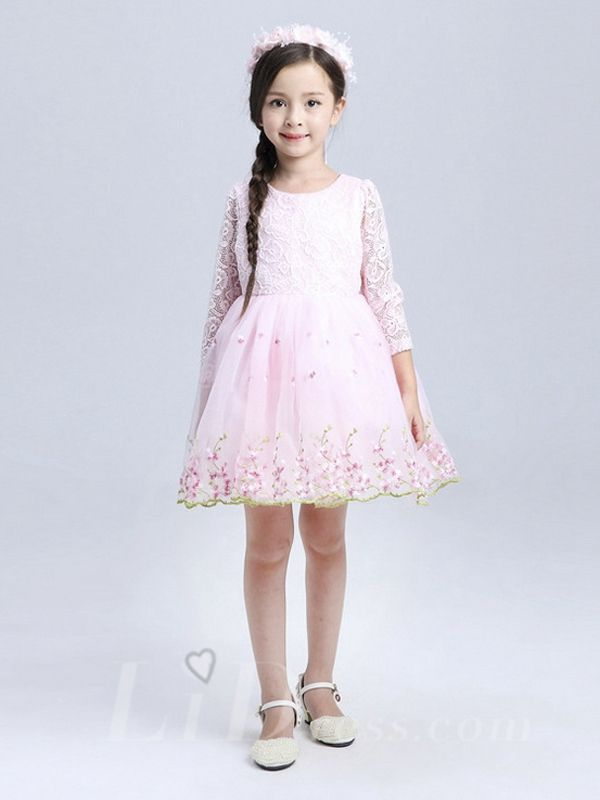Pink Little Kids Performance Dresses Style Lid1605051251