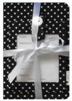 Black Polka Dot Passport Cover and Luggage Tag Gift Set